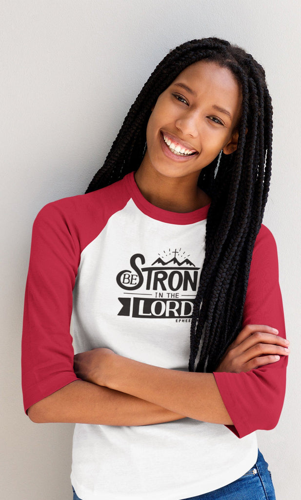 Trini-T - Be Strong In The Lord - Women's Raglan T T-Shirt Trini-T Ministries