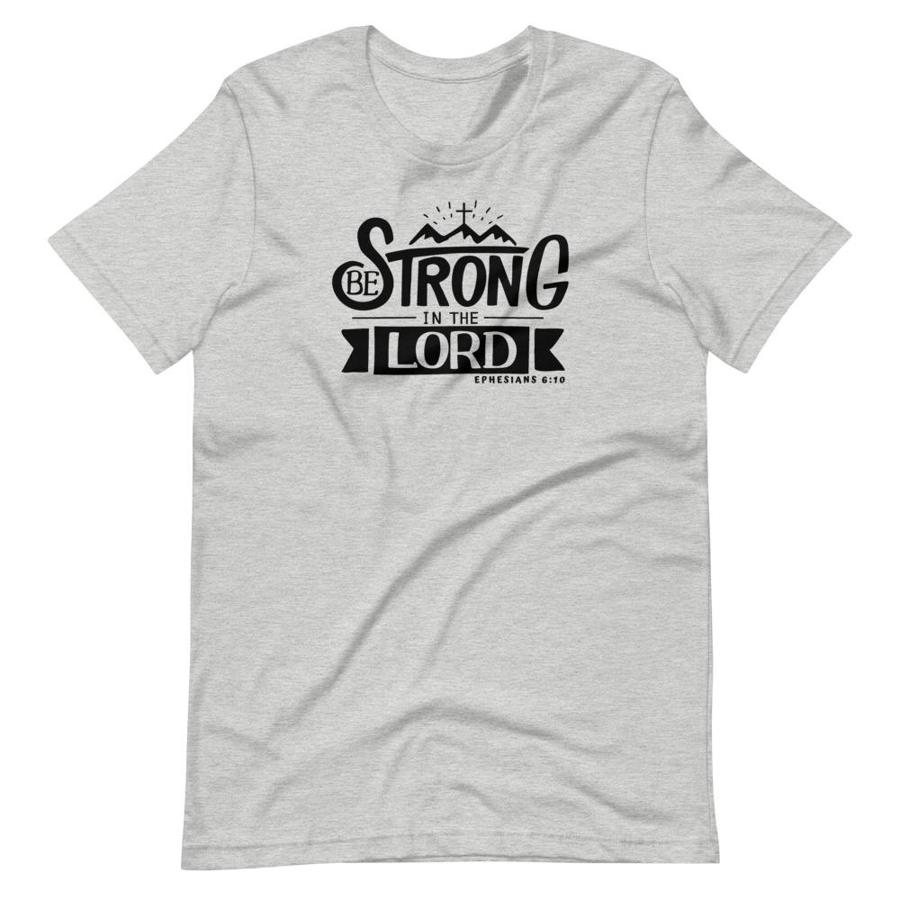 Trini-T - Be Strong In The Lord - Women's T T-Shirt Trini-T Ministries Athletic Heather S
