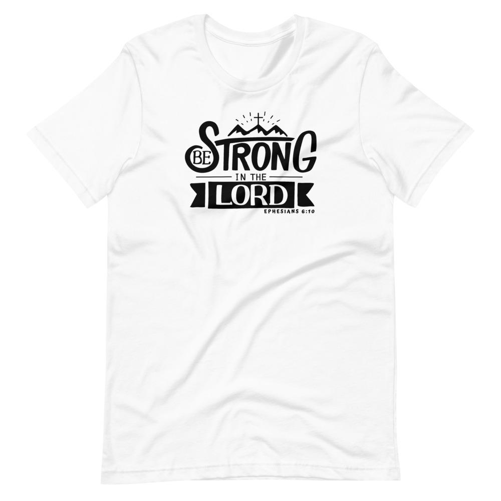 Trini-T - Be Strong In The Lord - Women's T T-Shirt Trini-T Ministries White XS