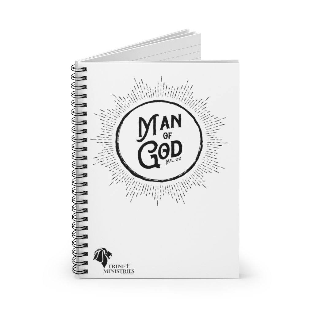 Trini-T - Man of God - Spiral Notebook *USA Only* Paper products Printify Spiral Notebook