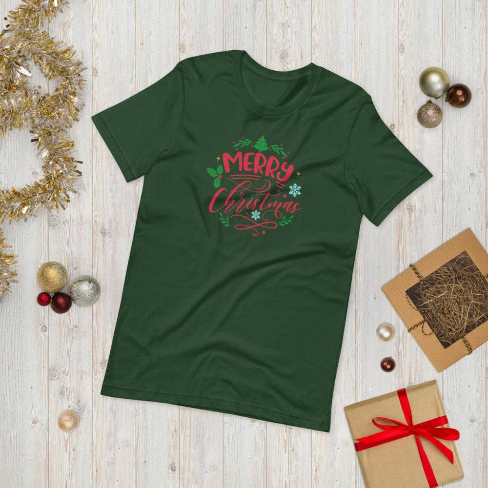 Trini-T - Merry Christmas - Unisex T Trini-T Ministries Forest S