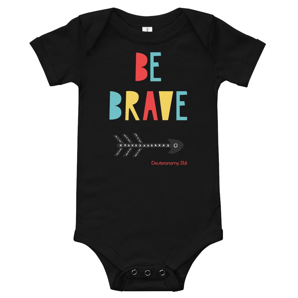 Trini-T Ministries - Be Brave - Baby's One Piece Trini-T Ministries Black 3-6m