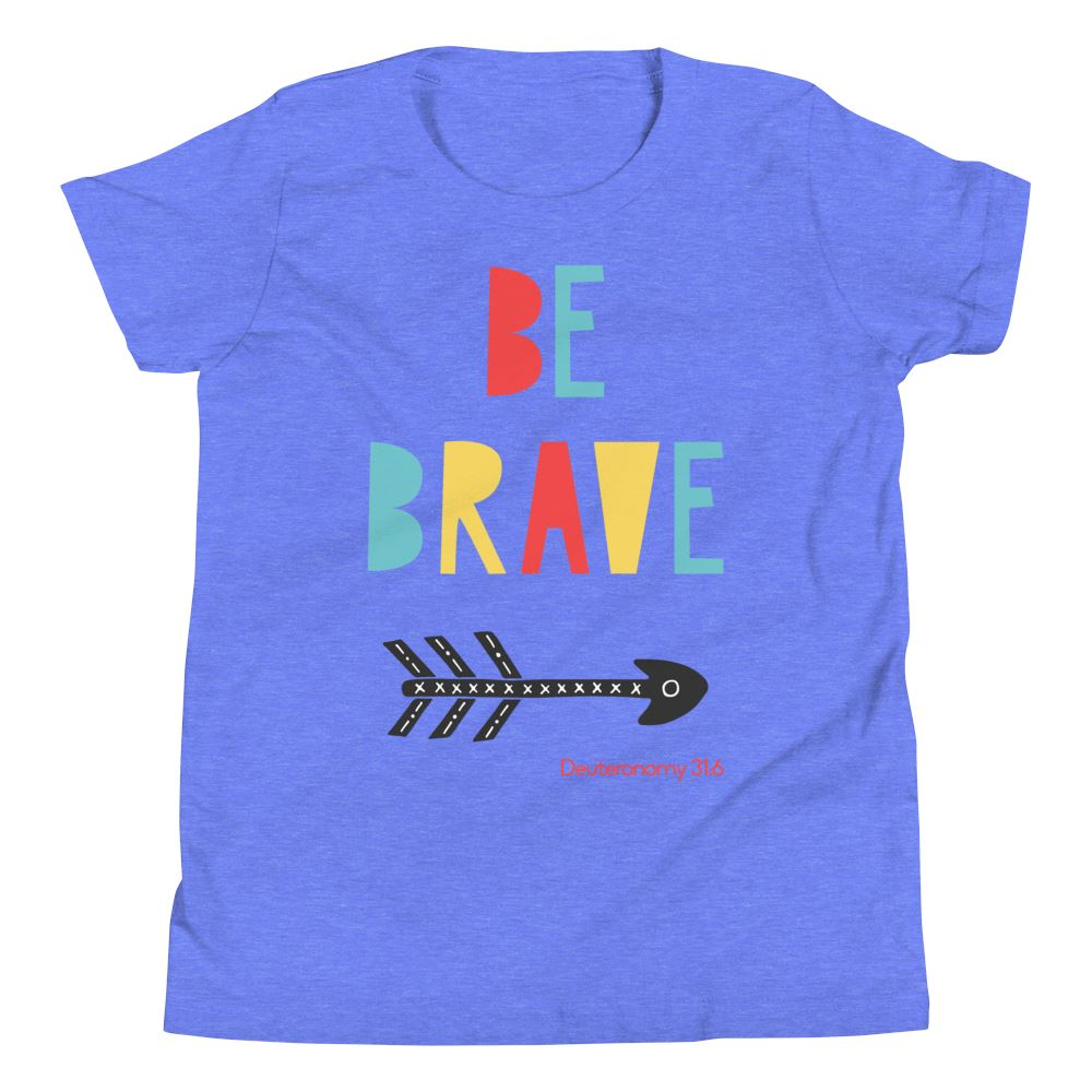 Trini-T Ministries - Be Brave - Youth US Trini-T Ministry Heather Columbia Blue S