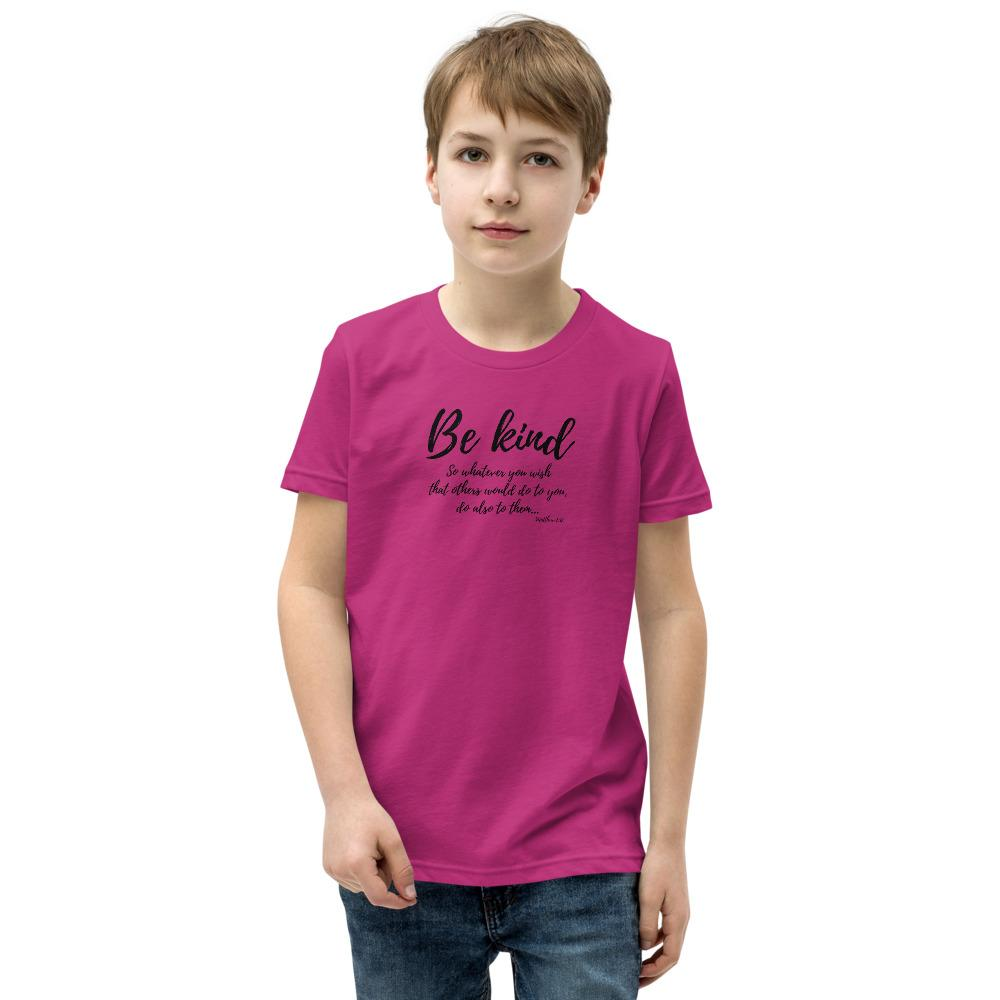 Trini-T Ministries - Be Kind - Kid's T T-Shirt Trini-T Ministries Berry S