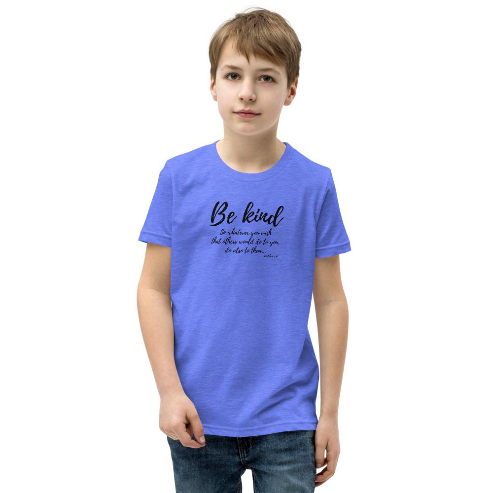 Trini-T Ministries - Be Kind - Kid's T T-Shirt Trini-T Ministries Heather Columbia Blue S
