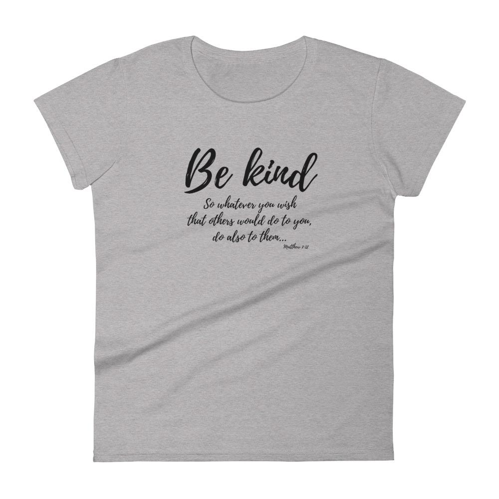 Trini-T Ministries - Be Kind - Women's T T-Shirt Trini-T Ministries Heather Grey S