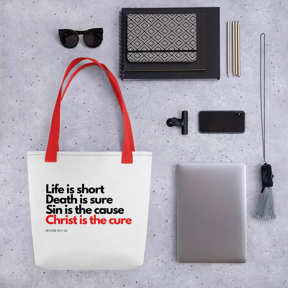 Trini-T Ministries - Christ Is The Cure - Tote Bag Bags Trini-T Ministries