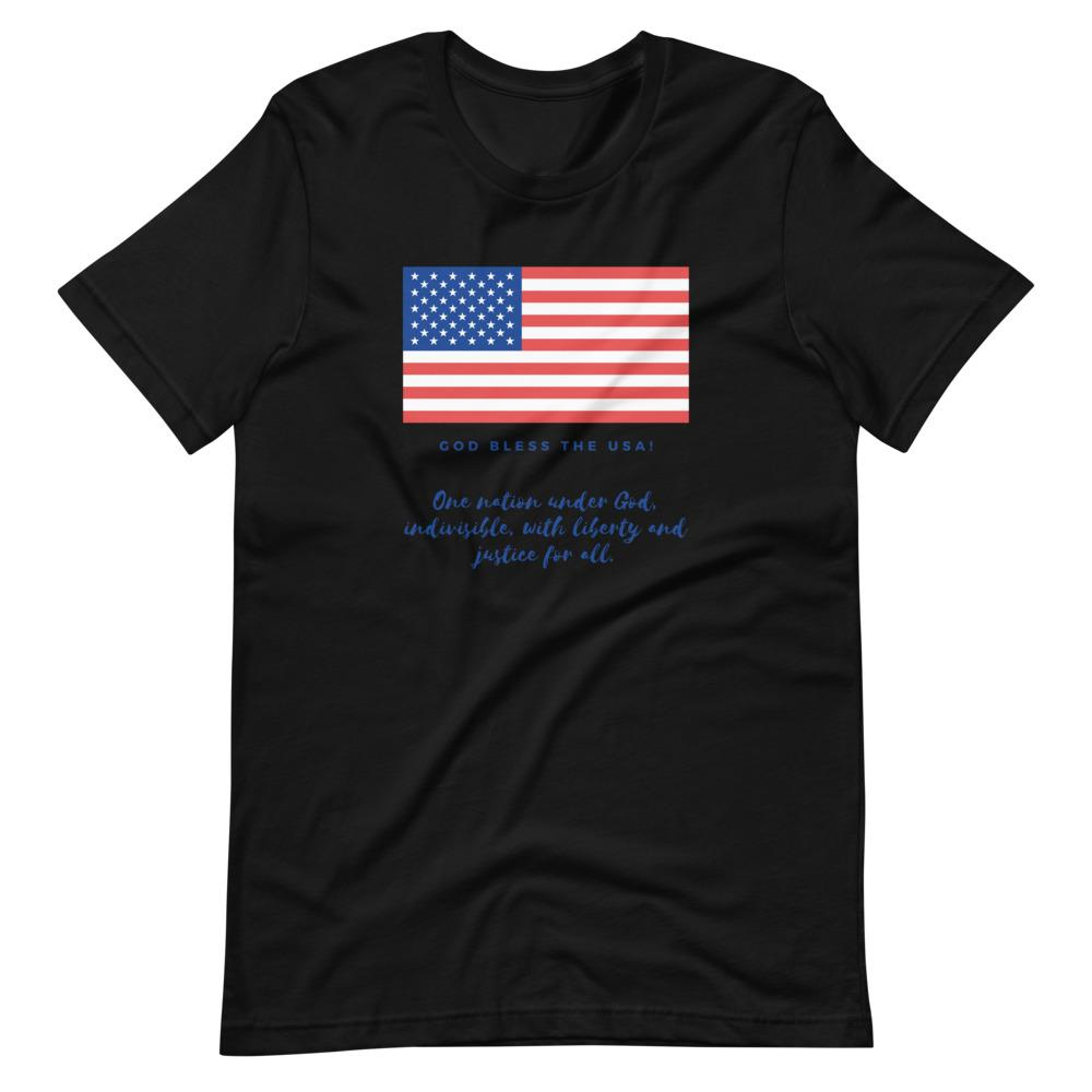 Trini-T Ministries - God Bless the USA - Men's -T T-Shirt Trini-T Ministries Black XS