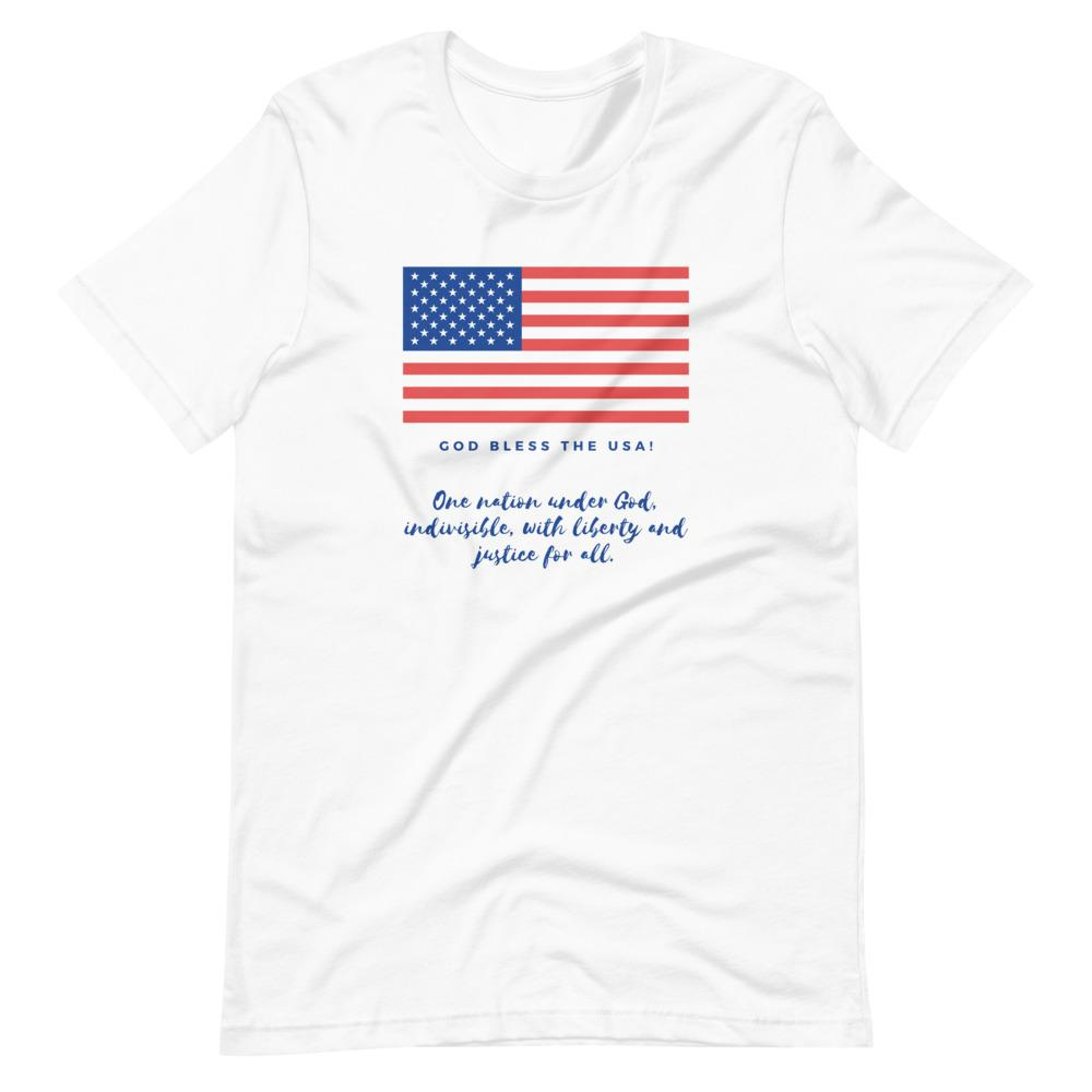 Trini-T Ministries - God Bless the USA - Men's -T T-Shirt Trini-T Ministries White XS