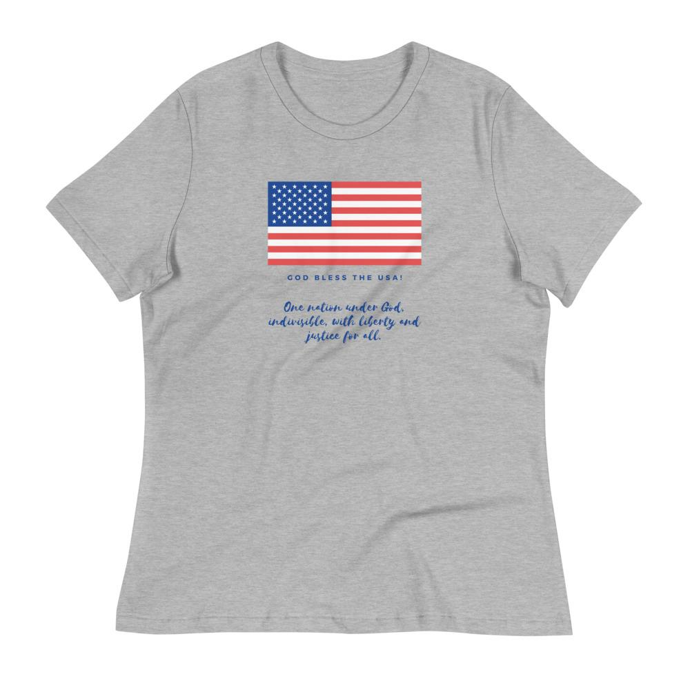 Trini-T Ministries - God Bless the USA - Women's -T Trini-T Ministries Athletic Heather S