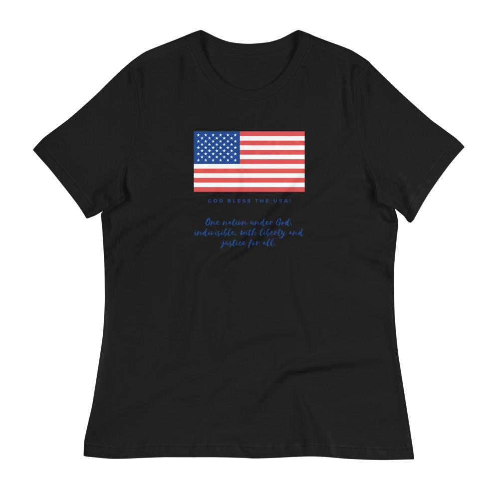 Trini-T Ministries - God Bless the USA - Women's -T Trini-T Ministries Black S