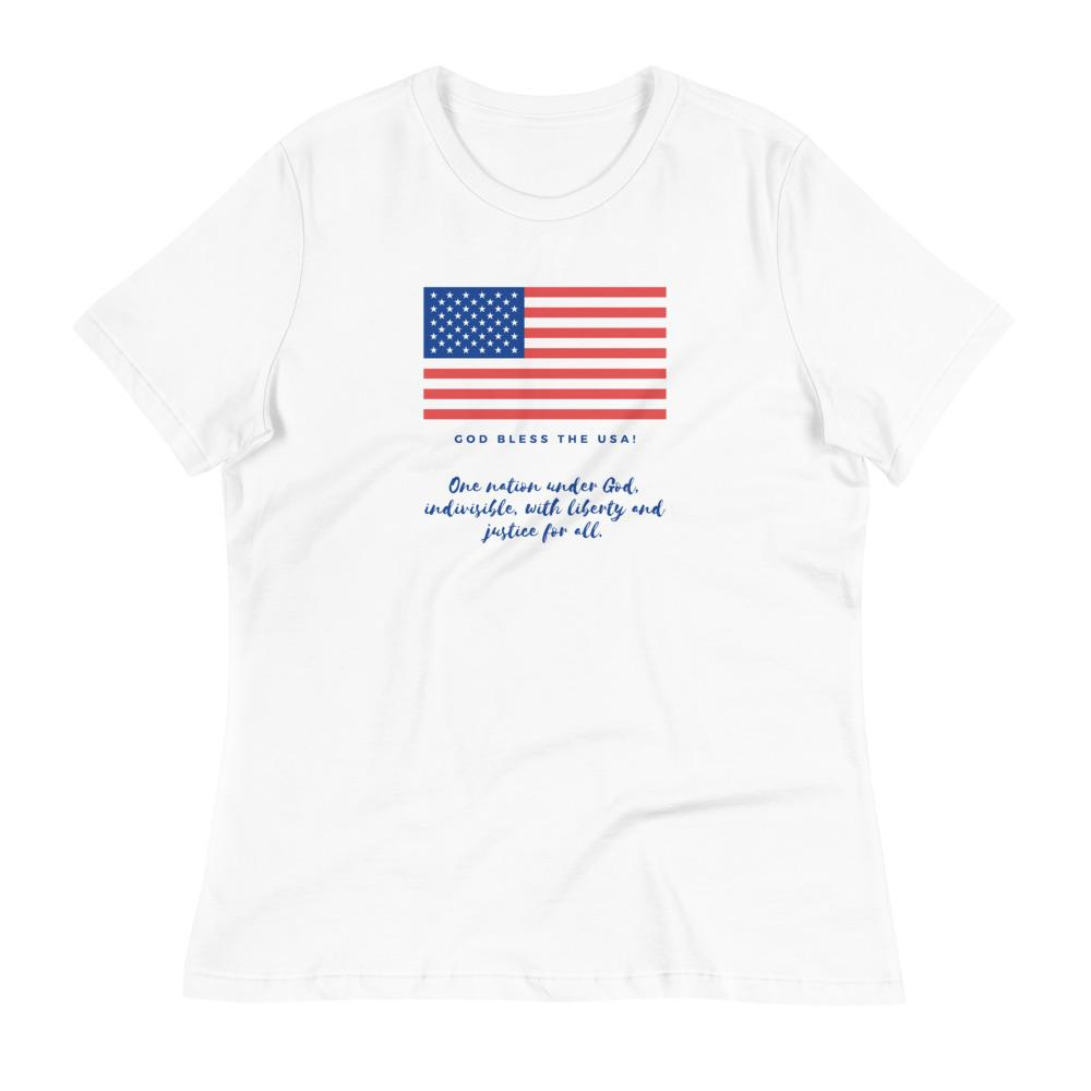 Trini-T Ministries - God Bless the USA - Women's -T Trini-T Ministries White S