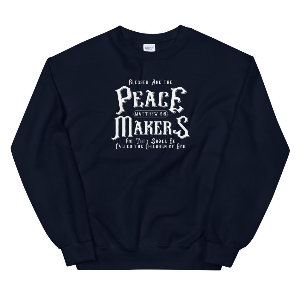 Trini-T - Peace Makers - Men's Sweatshirt Sweatshirt Trini-T Ministries Navy S
