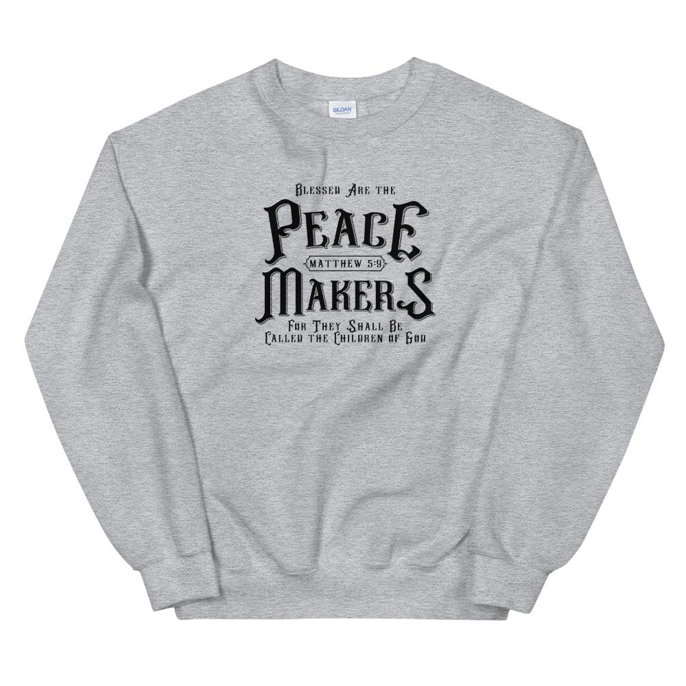 Trini-T - Peace Makers - Men's Sweatshirt Sweatshirt Trini-T Ministries Sport Grey S