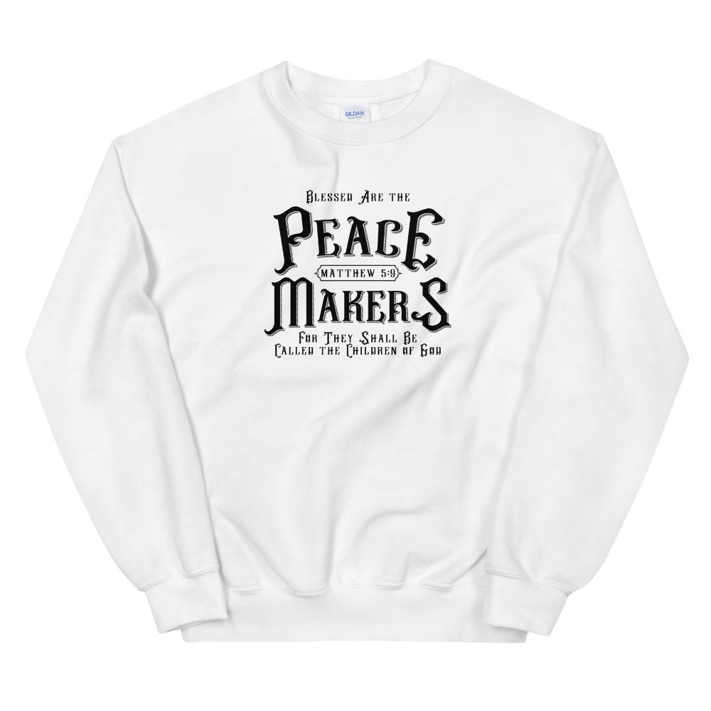 Trini-T - Peace Makers - Men's Sweatshirt Sweatshirt Trini-T Ministries White S