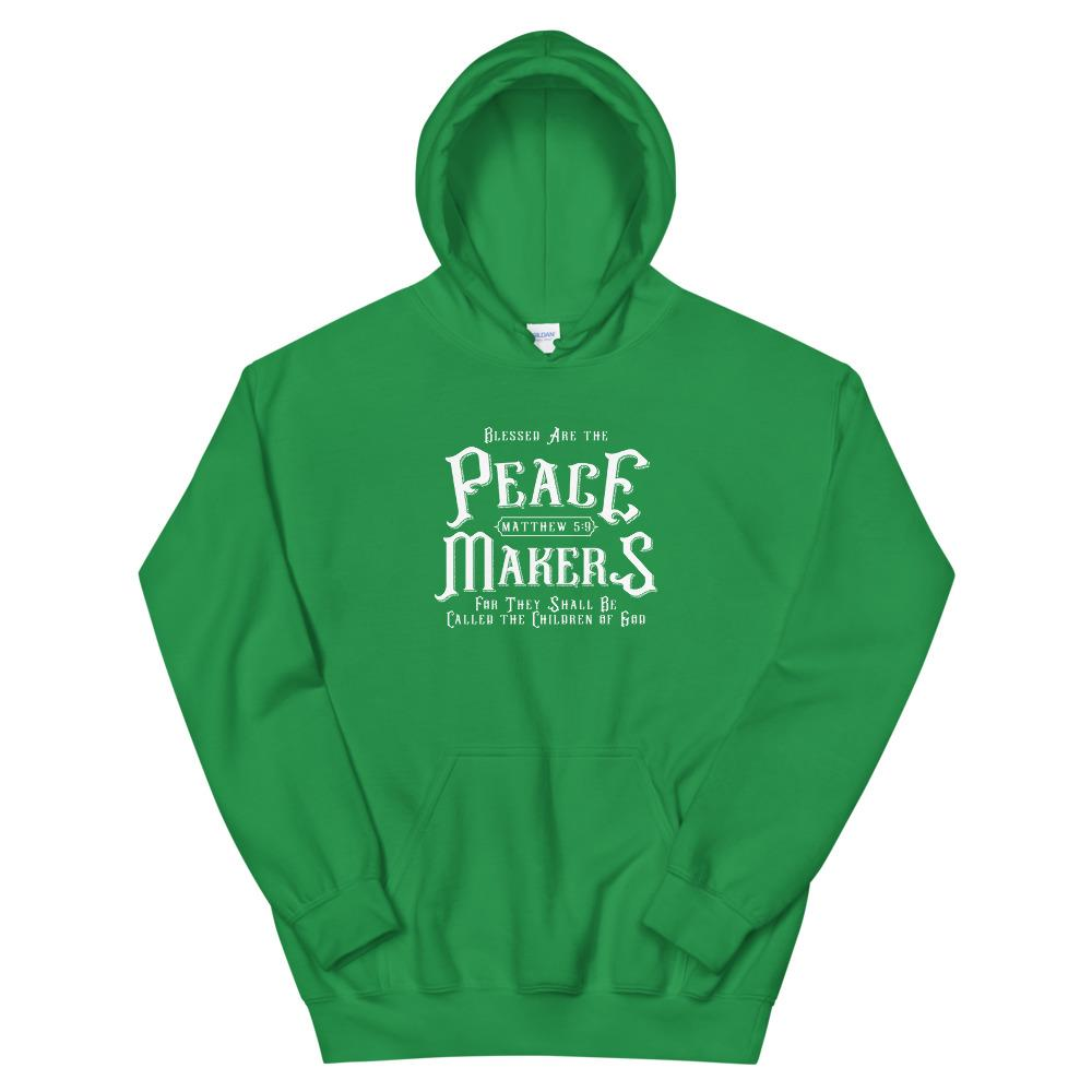 Trini-T - Peace Makers - Unisex Hoodie Hoodie Trini-T Ministries Irish Green S