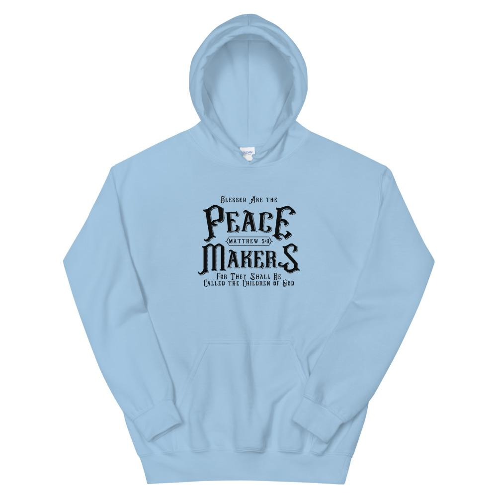 Trini-T - Peace Makers - Unisex Hoodie Hoodie Trini-T Ministries Light Blue S