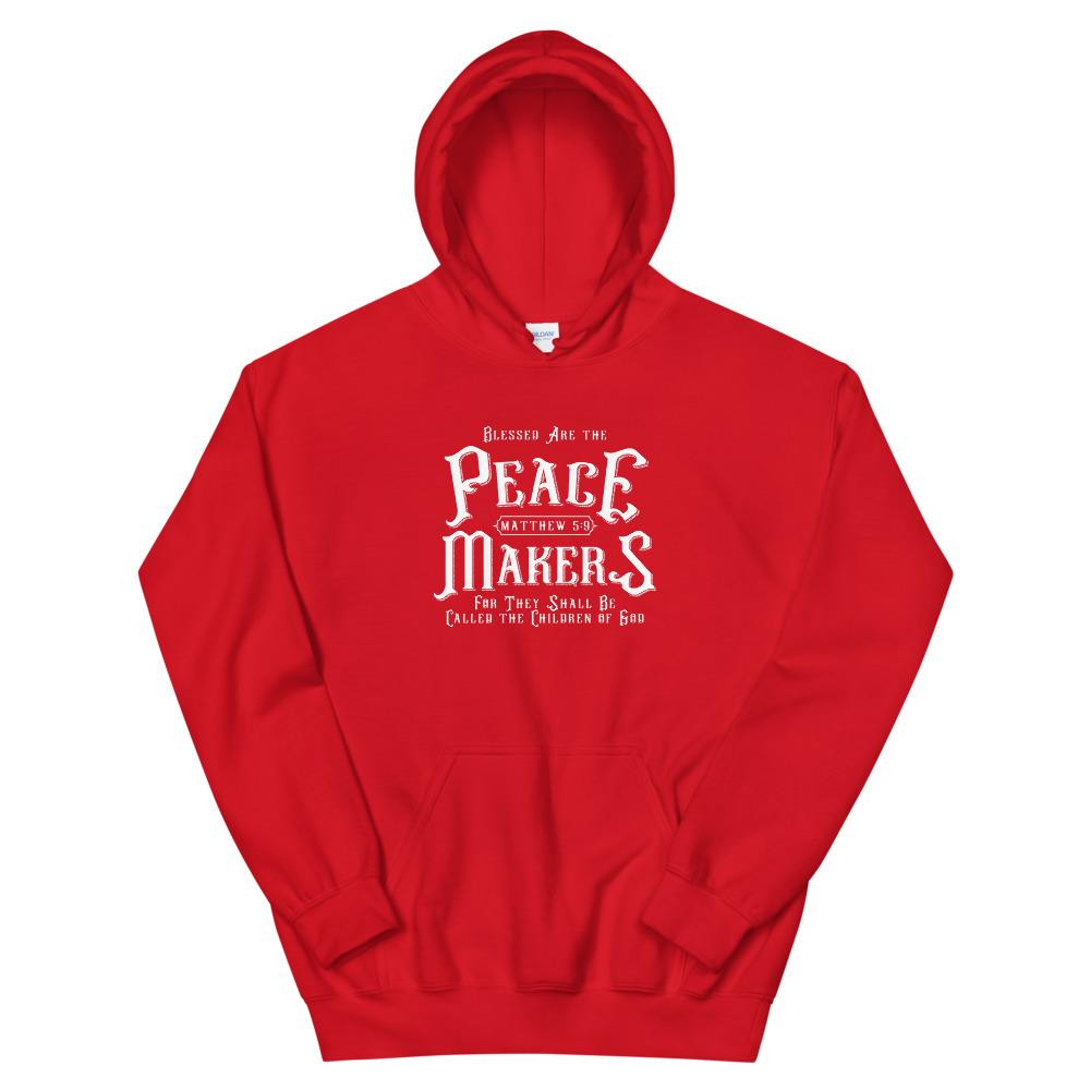 Trini-T - Peace Makers - Unisex Hoodie Hoodie Trini-T Ministries Red S