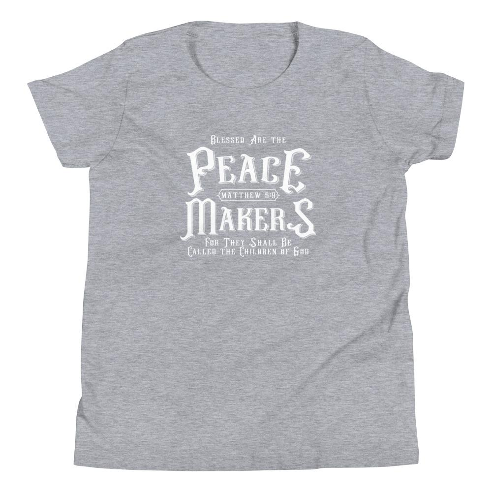 Trini-T - Peace Makers - Youth T T-Shirt Trini-T Ministries Athletic Heather S