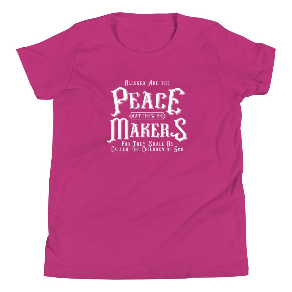 Trini-T - Peace Makers - Youth T T-Shirt Trini-T Ministries Berry S