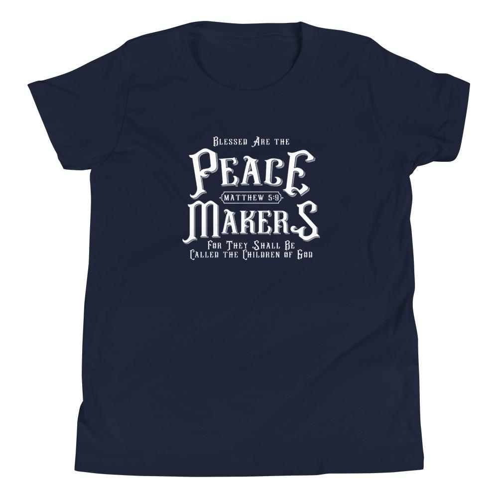 Trini-T - Peace Makers - Youth T T-Shirt Trini-T Ministries Navy S