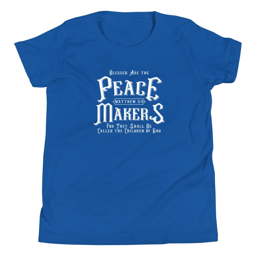 Trini-T - Peace Makers - Youth T T-Shirt Trini-T Ministries True Royal S