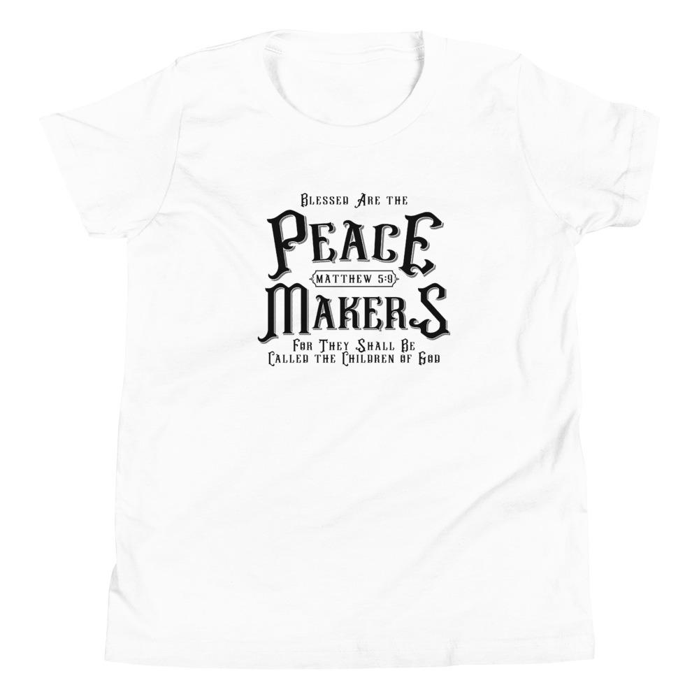 Trini-T - Peace Makers - Youth T T-Shirt Trini-T Ministries White S