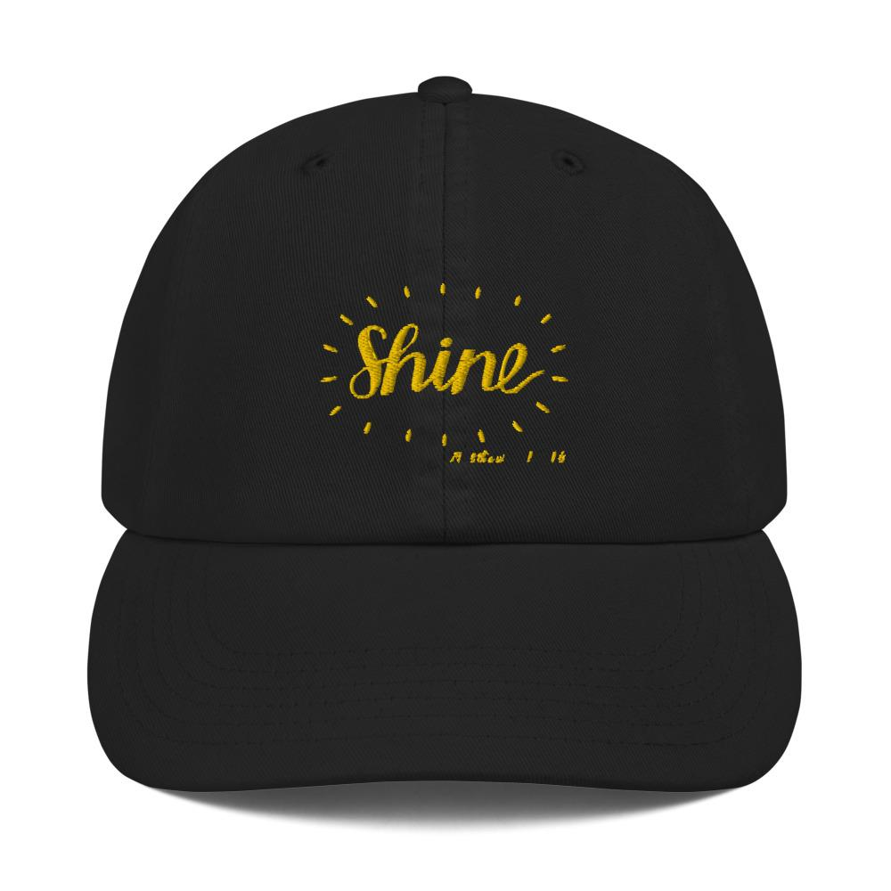 Trini-T - Shine - Champion Dad Cap Caps Trini-T Ministries Black