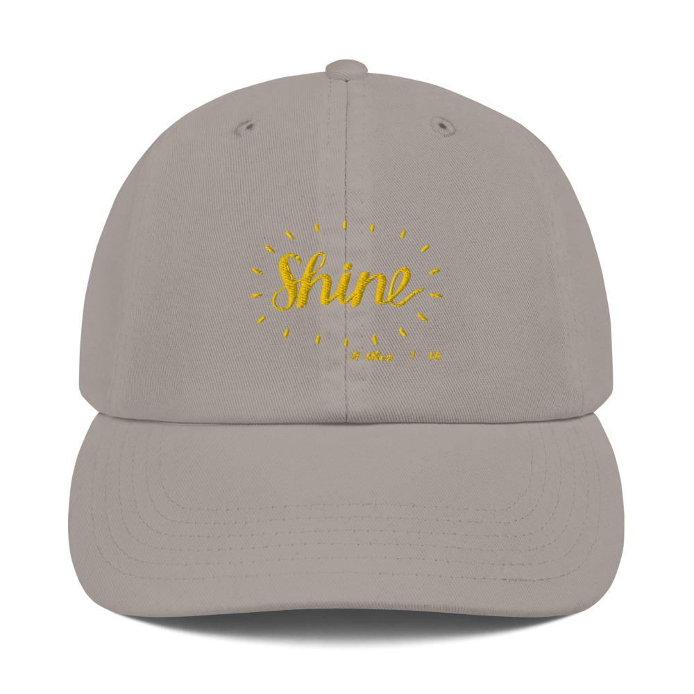 Trini-T - Shine - Champion Dad Cap Caps Trini-T Ministries Grey