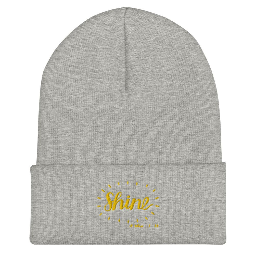 Trini-T - Shine - Cuffed Beanie Trini-T Ministries Heather Grey