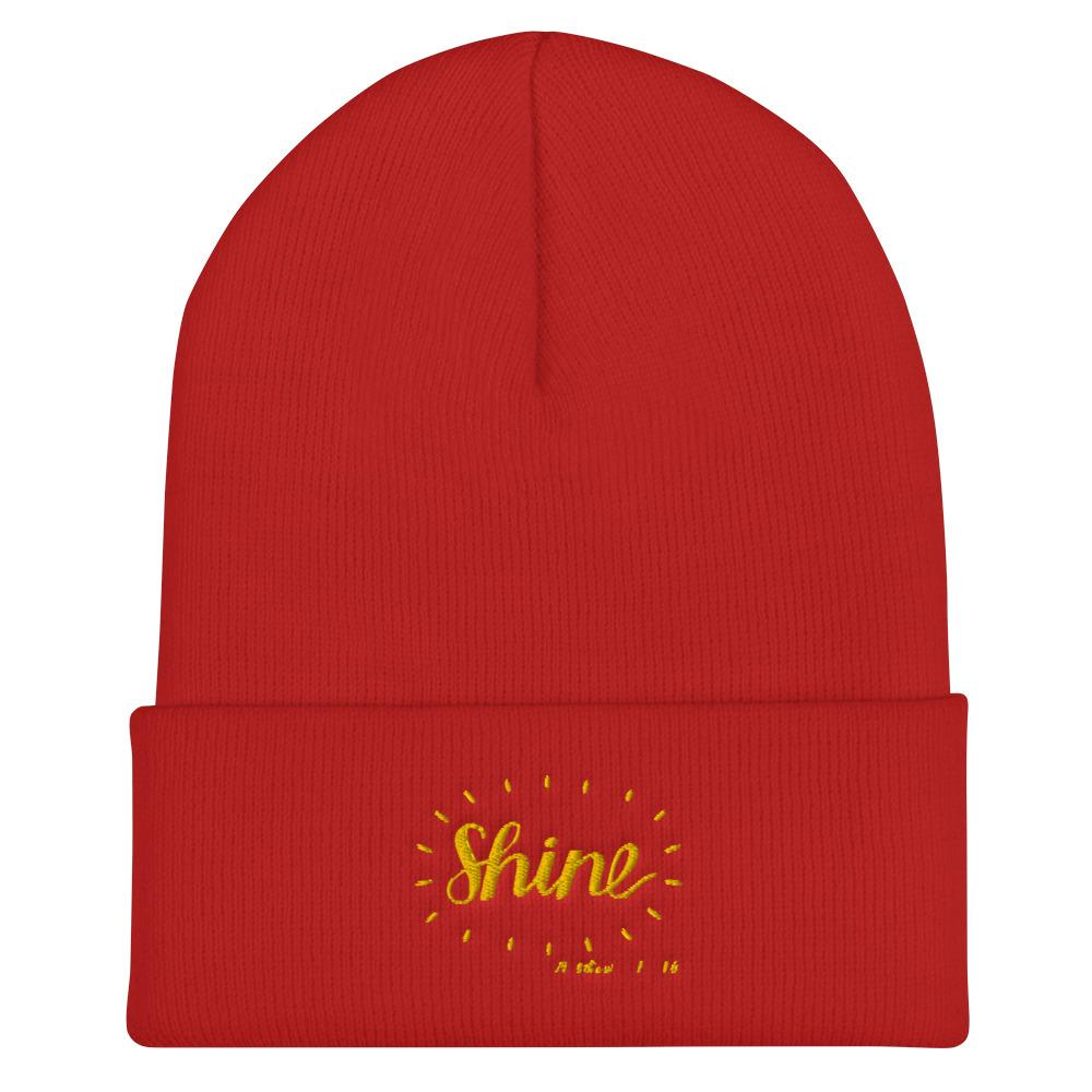 Trini-T - Shine - Cuffed Beanie Trini-T Ministries Red