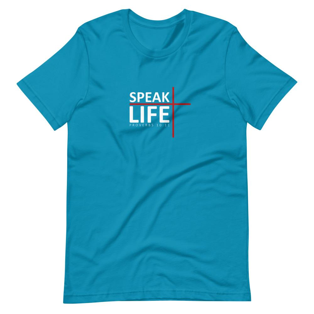 Trini-T - Speak Life - Men's T T-Shirt Trini-T Ministries Aqua S