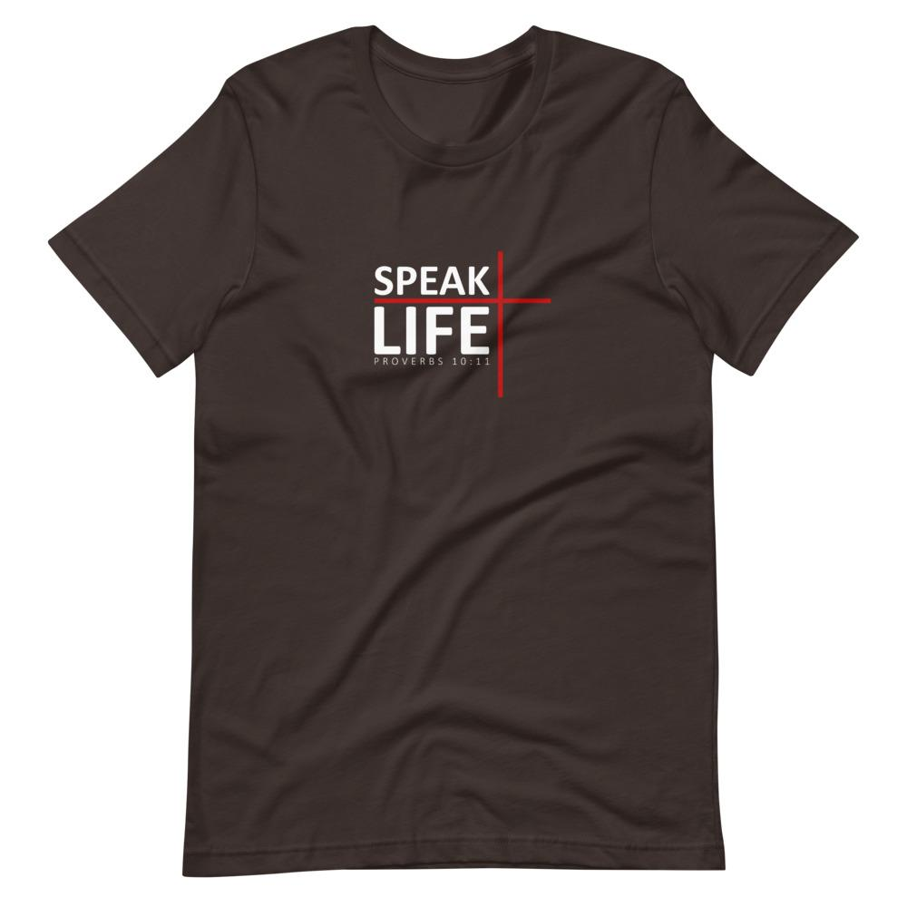Trini-T - Speak Life - Men's T T-Shirt Trini-T Ministries Brown S