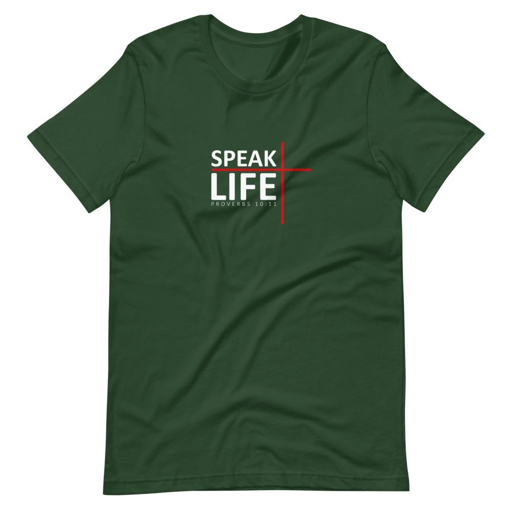 Trini-T - Speak Life - Men's T T-Shirt Trini-T Ministries Forest S