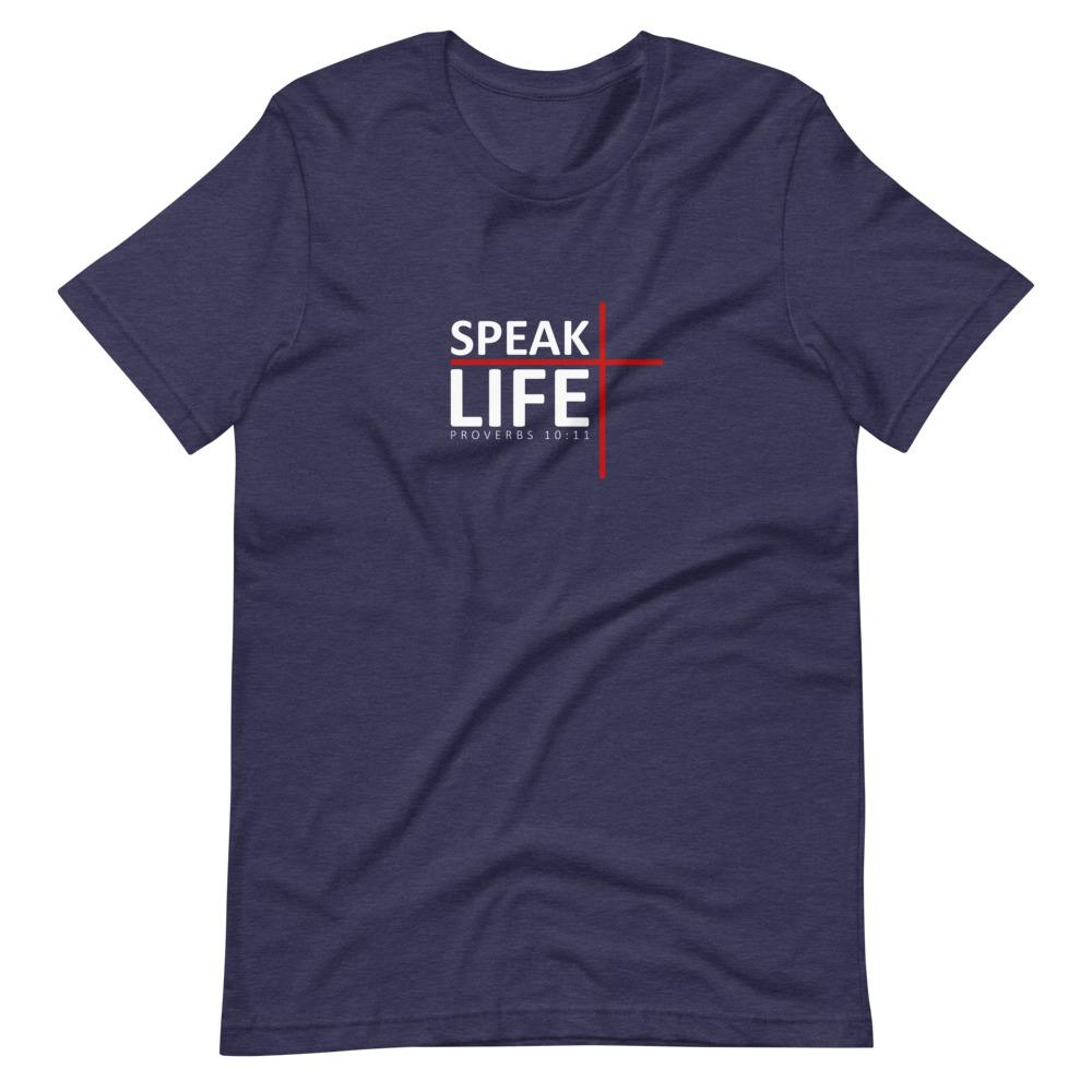 Trini-T - Speak Life - Men's T T-Shirt Trini-T Ministries Heather Midnight Navy XS