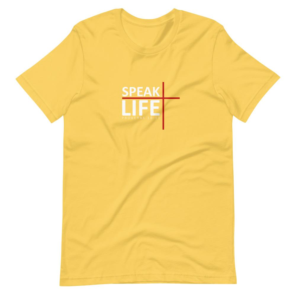 Trini-T - Speak Life - Men's T T-Shirt Trini-T Ministries Yellow S