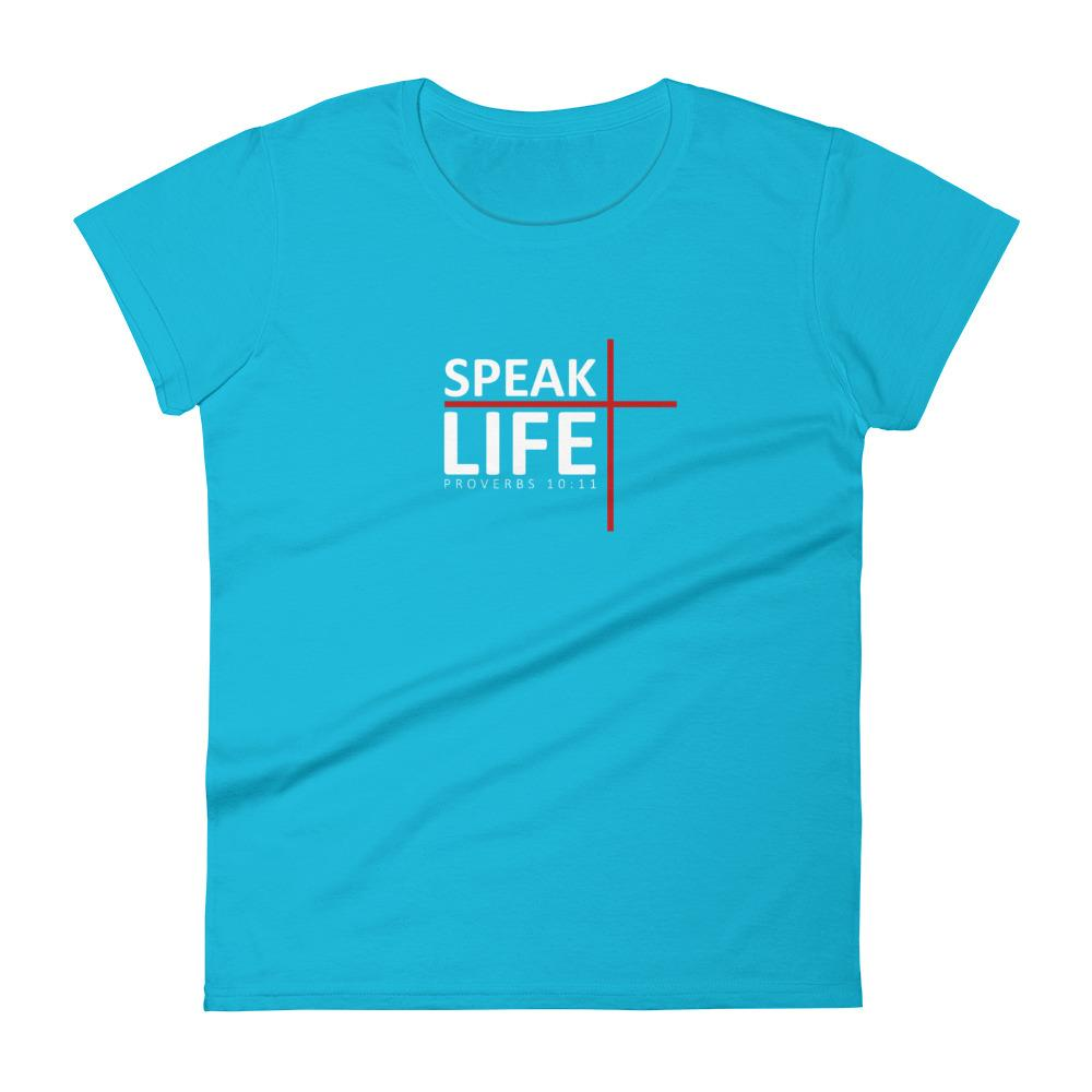 Trini-T - Speak Life - Women's T T-Shirt Trini-T Ministries Caribbean Blue S