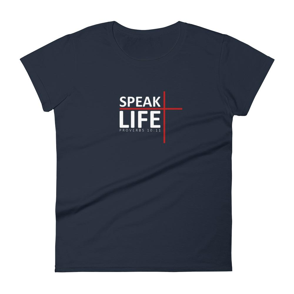 Trini-T - Speak Life - Women's T T-Shirt Trini-T Ministries Navy S