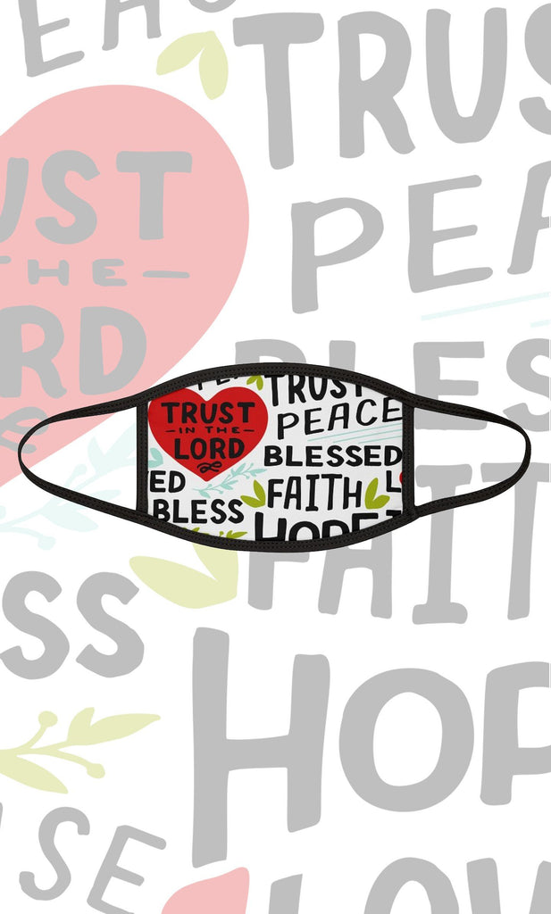 Trini-T - Trust In The Lord - Fabric Face Mask Accessories Printify