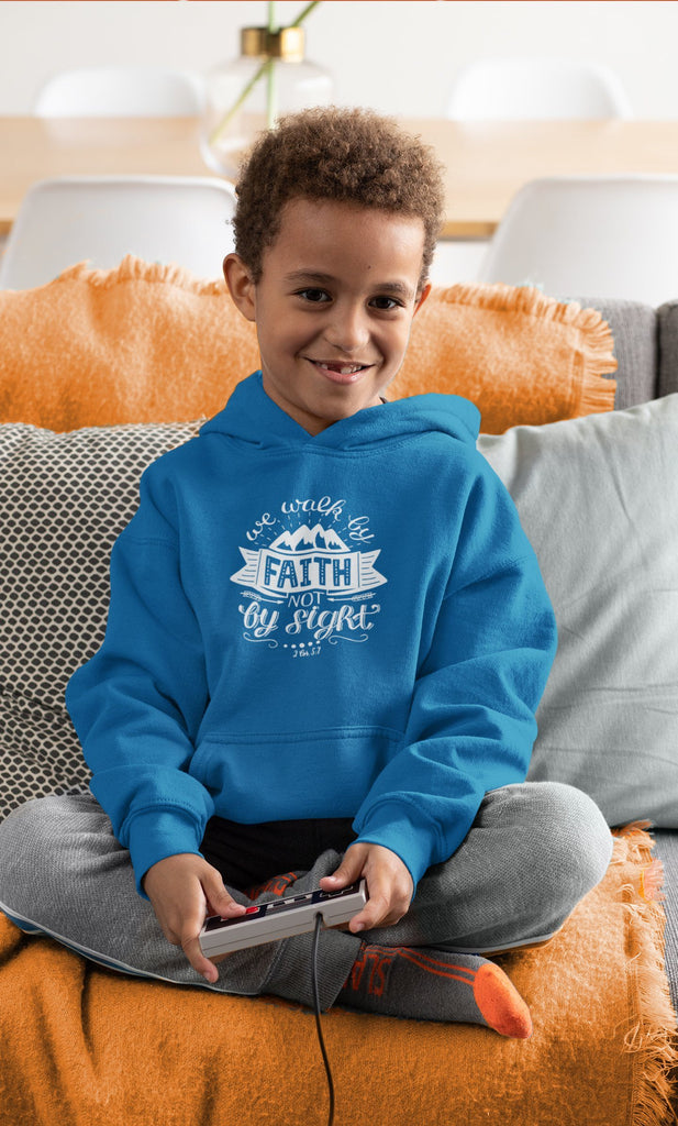 Trini-T - Walk By Faith - Kids Hoodie Kids clothes Trini-T Ministries