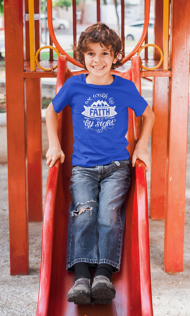 Trini-T - Walk By Faith - Kid's T T-Shirt Trini-T Ministries