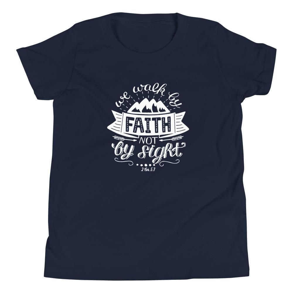 Trini-T - Walk By Faith - Kid's T Trini-T Ministries Navy S