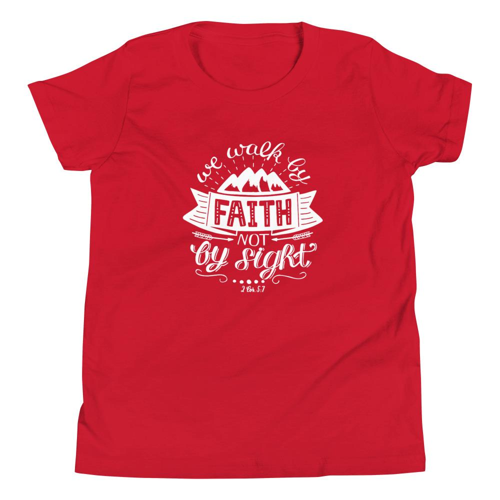 Trini-T - Walk By Faith - Kid's T Trini-T Ministries Red S
