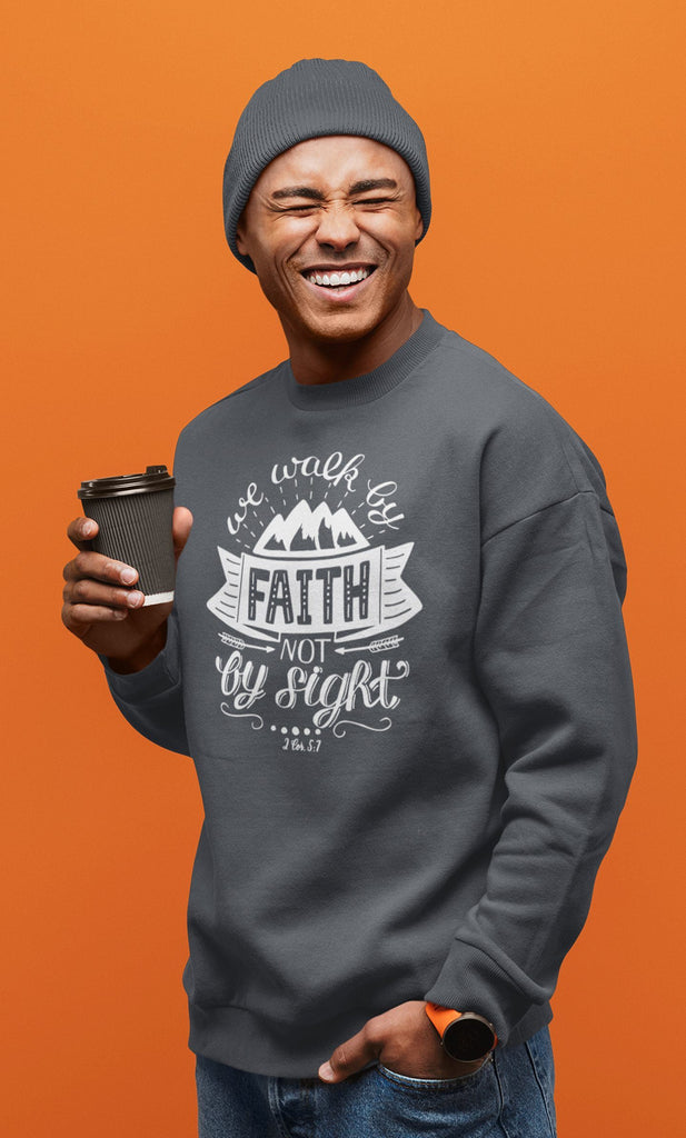Trini-T - Walk By Faith - Men's Sweatshirt Sweatshirt Trini-T Ministries