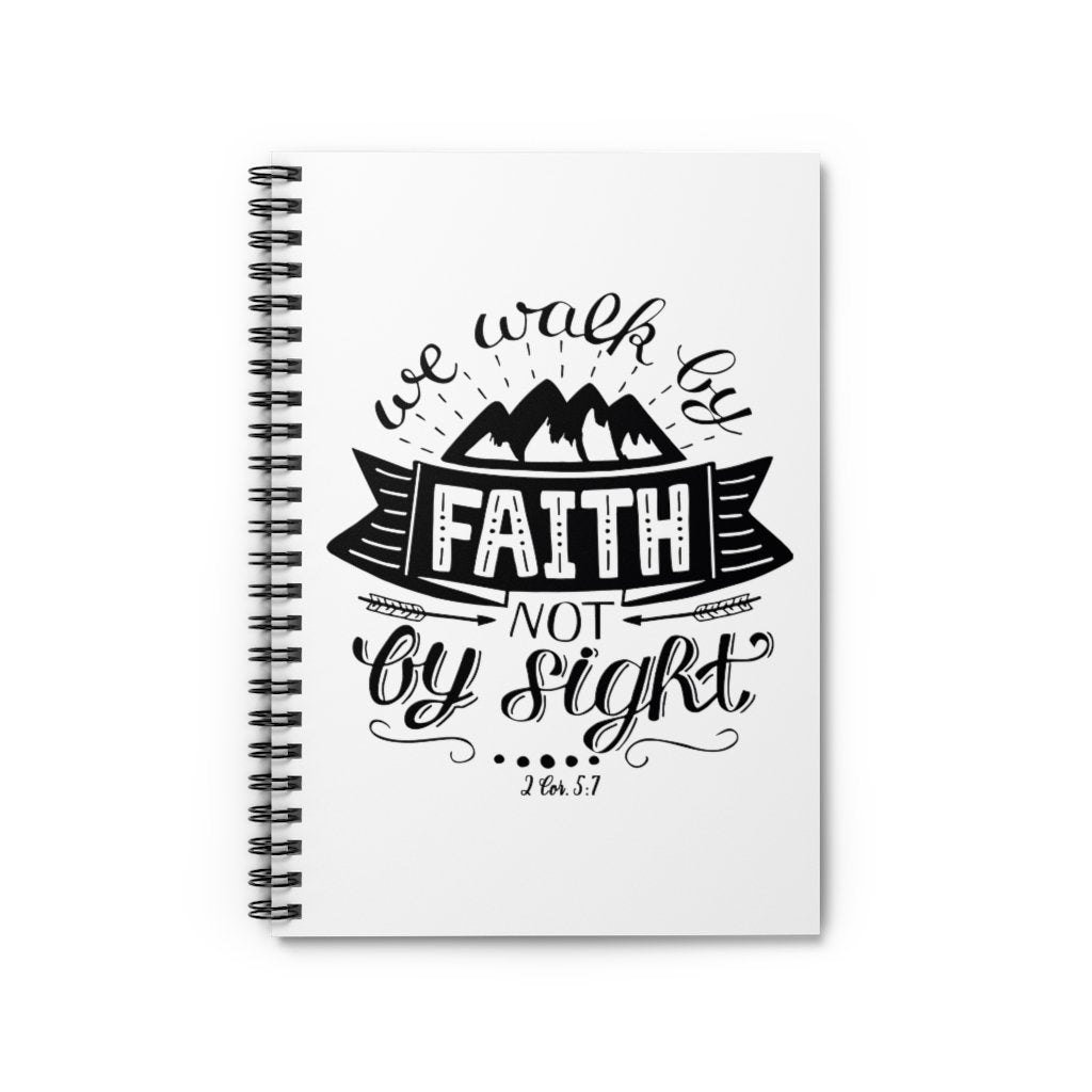 Trini-T - Walk By Faith - Spiral Journal - Ruled Line Paper products Printify Spiral Notebook