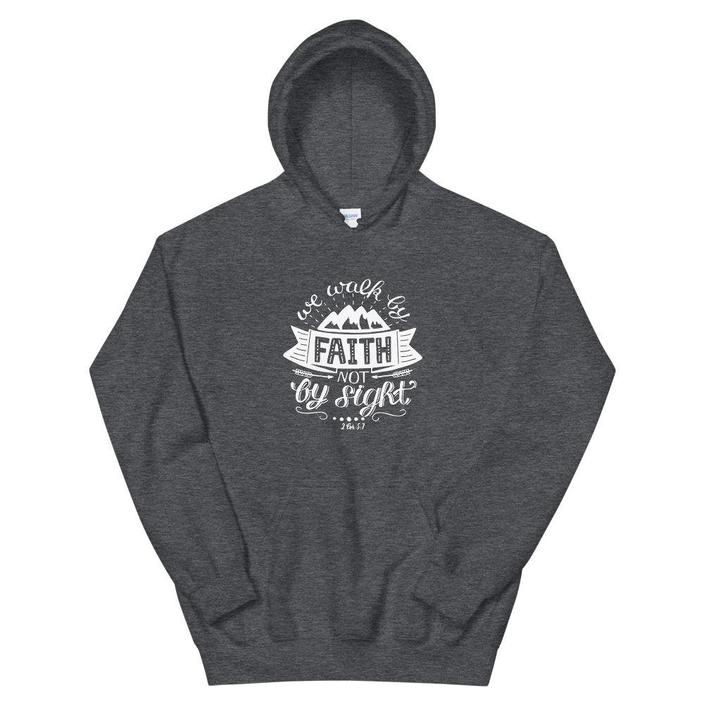 Trini-T - Walk By Faith - Unisex Hoodie Trini-T Ministries Dark Heather S