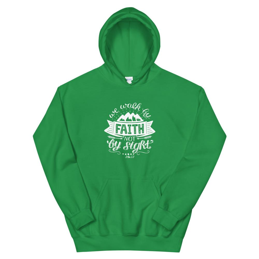 Trini-T - Walk By Faith - Unisex Hoodie Trini-T Ministries Irish Green S