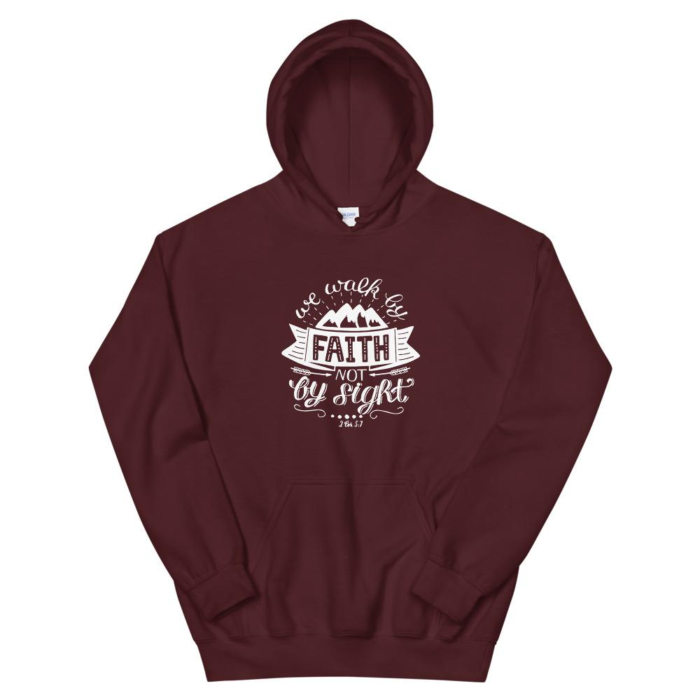 Trini-T - Walk By Faith - Unisex Hoodie Trini-T Ministries Maroon S