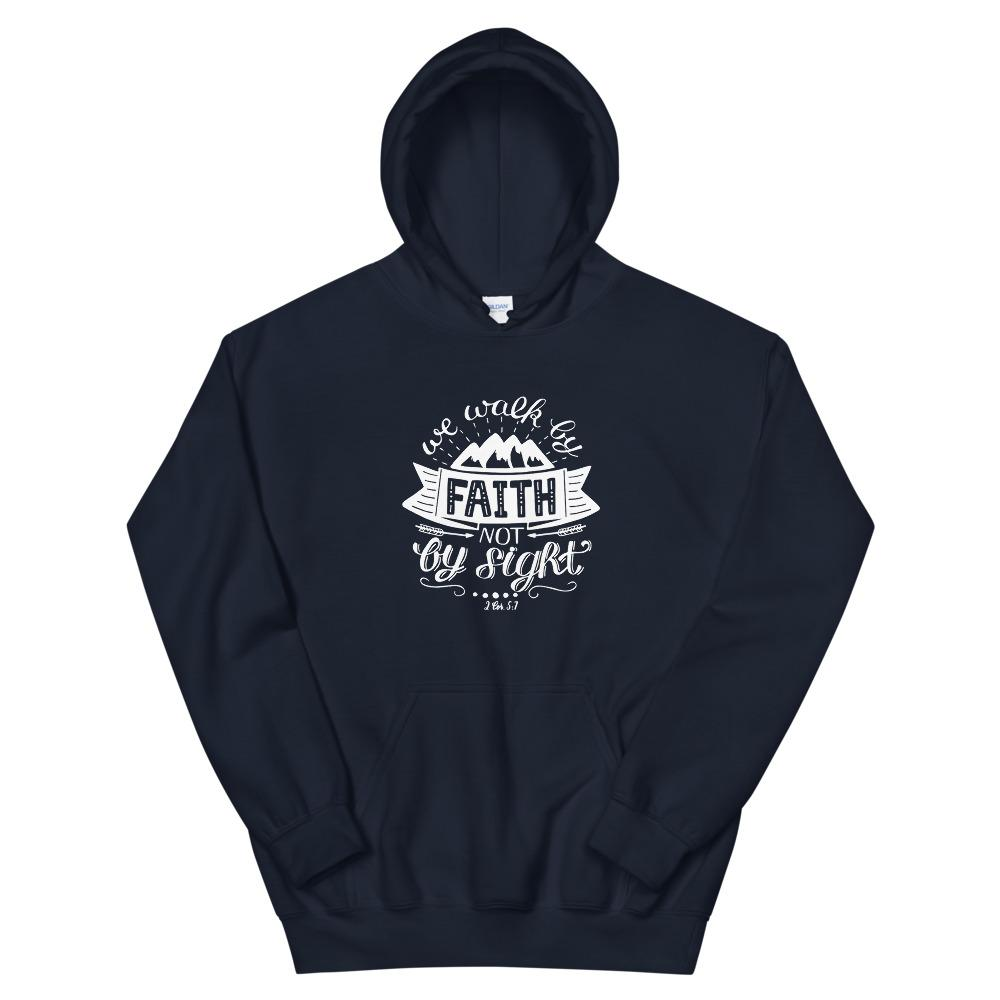 Trini-T - Walk By Faith - Unisex Hoodie Trini-T Ministries Navy S