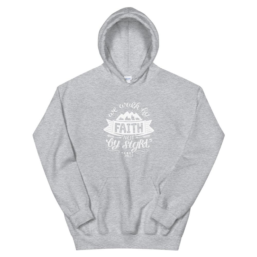 Trini-T - Walk By Faith - Unisex Hoodie Trini-T Ministries Sport Grey S